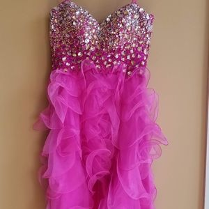 Dresses & Skirts - Pink Strapless Prom / Homecoming Dress